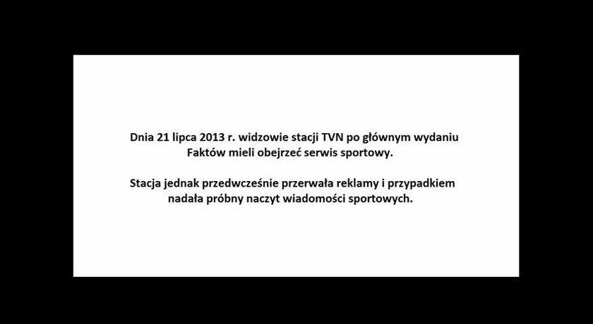 Wtopa dziennikarza TVN