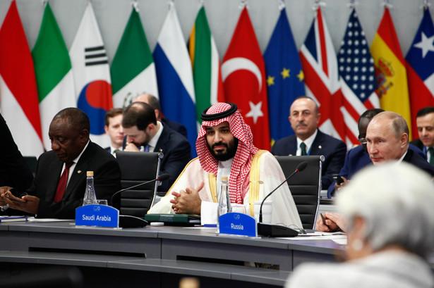 Mohammed Bin Salman i Władimir Putin na spotkaniu G-20 w Buenos Aires