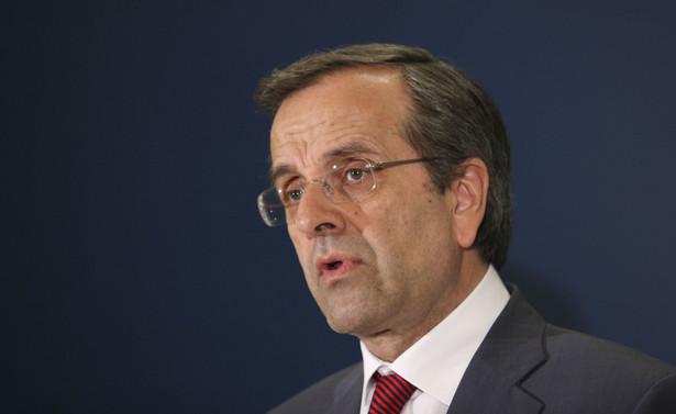 Premier Grecji Antonis Samaras.