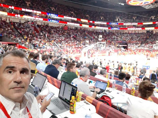 Vladan Tegeltija na finalu Svetskog prvenstva u košarci 2019.