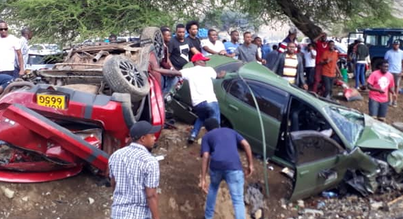 Scene of the deadly Arusha Namanga accident