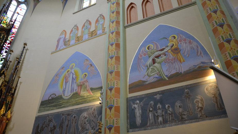 Koniec rekonstrukcji malowideł w kościele świętej Katarzyny Aleksandryjskiej w Zgierzu