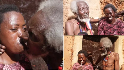 100-year-old man full of joy as he finally finds the love of his life (video)