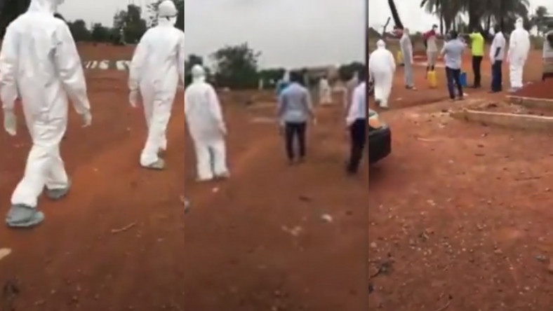 How the man who reportedly died of coronavirus in Ghana was buried in Kumasi (video)