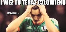 Memy po meczu Ajax – Legia. Internauci bezlitośni dla Żyry. GALERIA