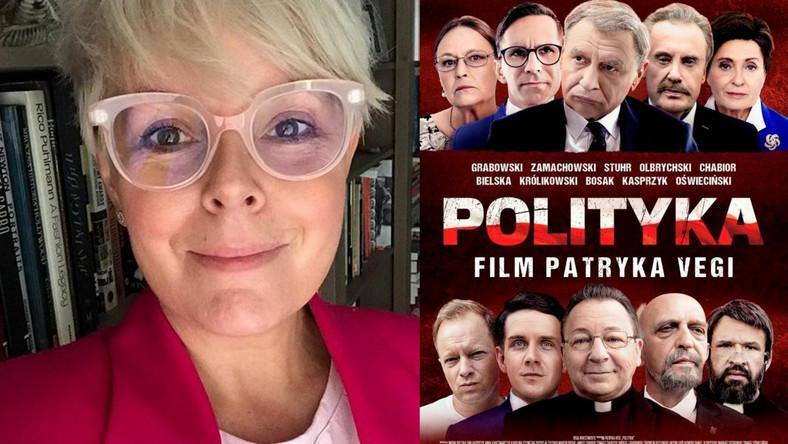 """Karolina Korwin Piotrowsk, plakat filmu """"Polityka"""""""