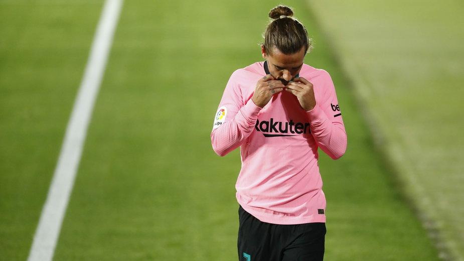 Antoine Griezmann nie miał powodów do zadowolenia po meczu Getafe – FC Barcelona (1:0)