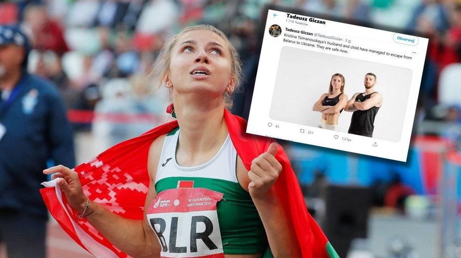 Białoruska lekkoatletka Kryscina Cimanouska otrzymała od Polski wizę humanitarną. Jej mąż uciekł z kraju