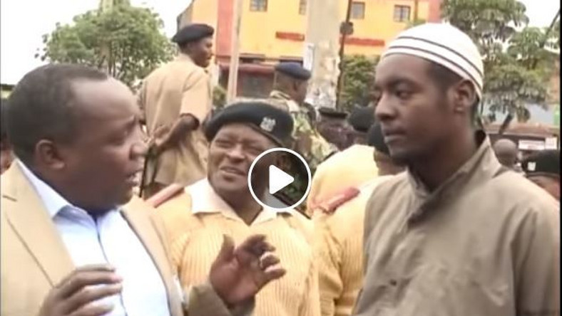 Bold youth confronts Matiang'i's officers – tells them only bhang can save Uhuru's legacy