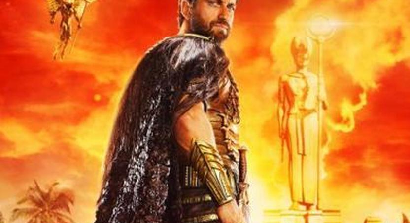 Gerard Butler as an Egyptian in Gods of Egypt.