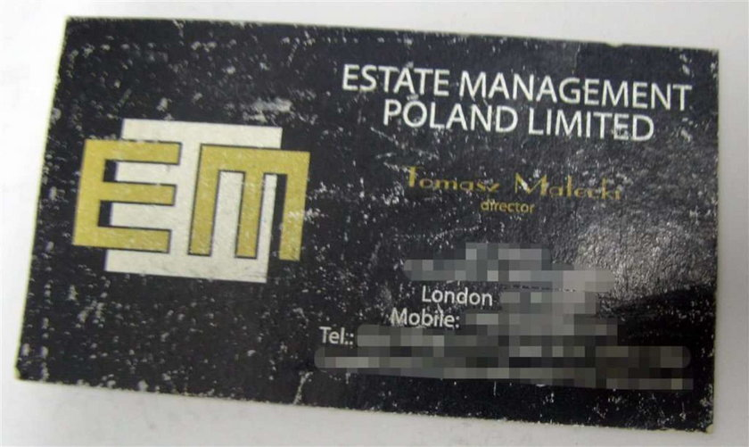 Wizytówka agenta Tomka