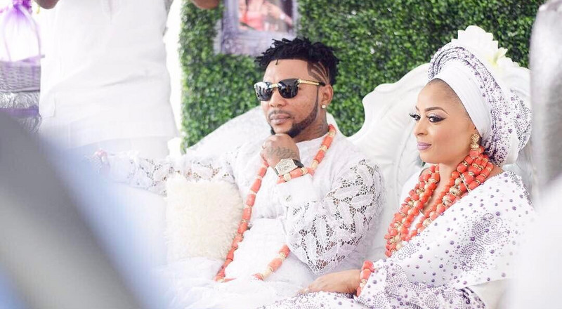 Ortisefemi and wife Nabila Fash settle marital crisis, attend #EndSars protest together