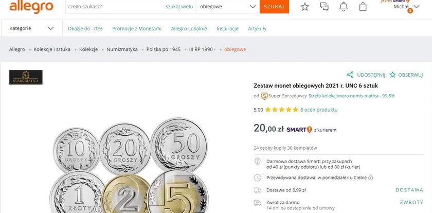 Ten zestaw zwykłych monet kosztuje dziś 20 zł. Po co ludzie kupują normalne monety?