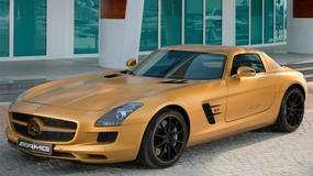 Złota wersja Mercedesa SLS