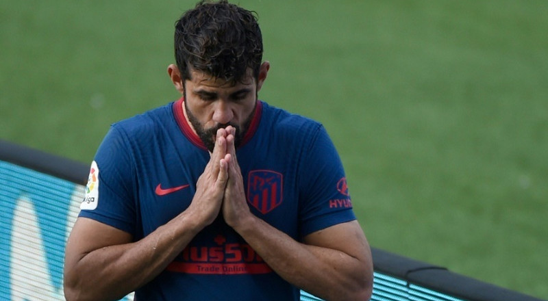 Atletico's Costa to miss a month with blood clot