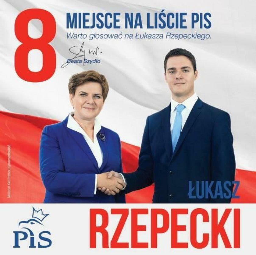 Łukasz Rzepecki wyrzucony z klubu PiS