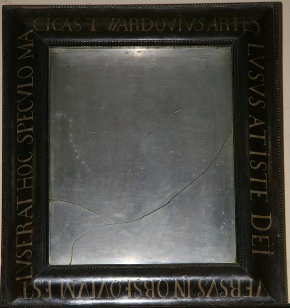 Węgrów, lustro Twardowskiego w kościele Wniebowzięcia Najświętszej Marii Panny