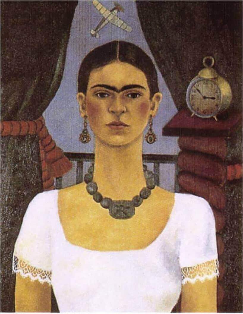 Jeden z pierwszych obrazów przedstawiających młodziutką Fridę Kahlo