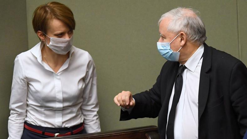 Jadwiga Emilewicz i Jarosław Kaczyński