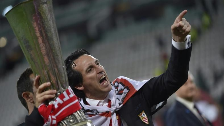 Arsenal boss Unai Emery won the Europa League three times with Sevilla
