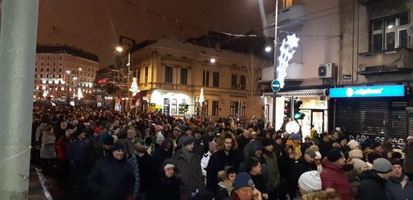 Kolona u Makedonskoj ulici