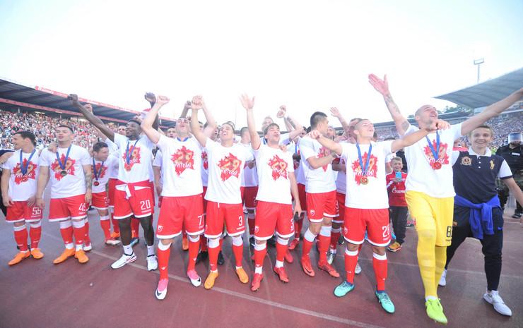 FK Crvena zvezda, proslava