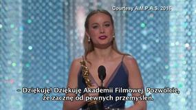 Oscary 2016: wzruszające podziękowanie Brie Larson