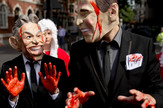 Toni Bler, Džordž Buš, Protesti