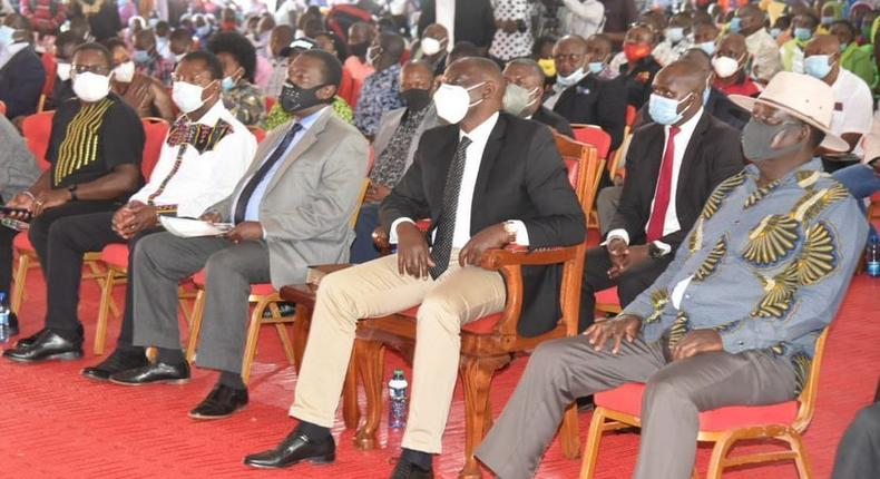 DP Ruto, Raila,Mudavadi and Weta among leaders at MP Ken Murungu's Burial