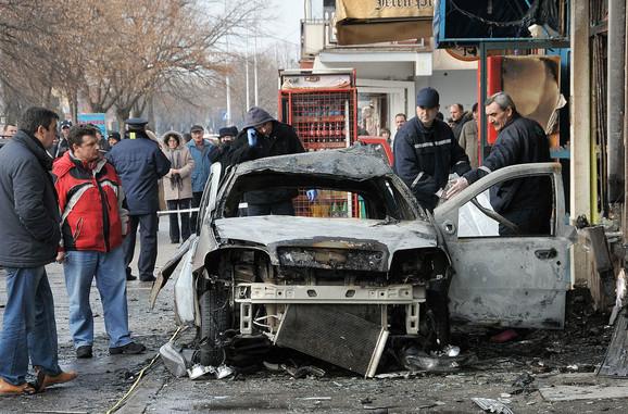 Nije imao šansu: Automobil Đorđa Stojkanovića posle eksplozije