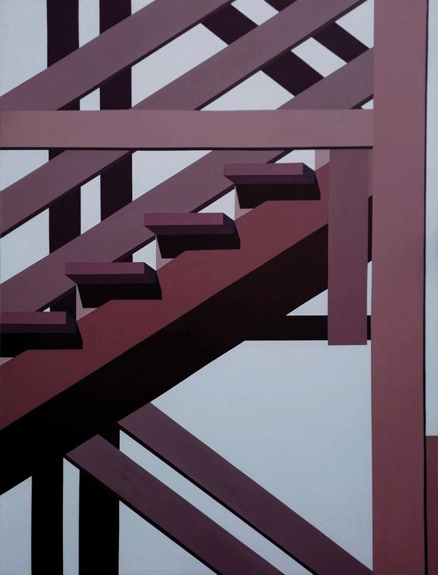 Mila Gvardiol, Stepenice3, akril na platnu, 140x110cm, 2019