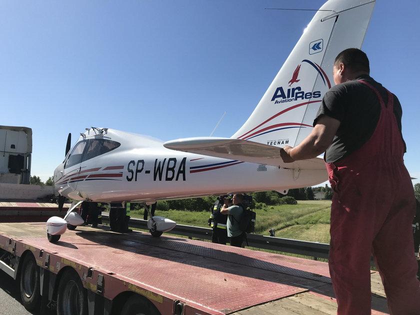 Awaryjne lądowanie na A4