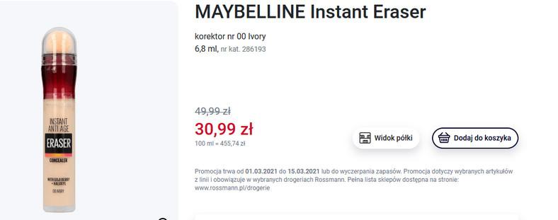 Maybelline Instant Eraser - korektor