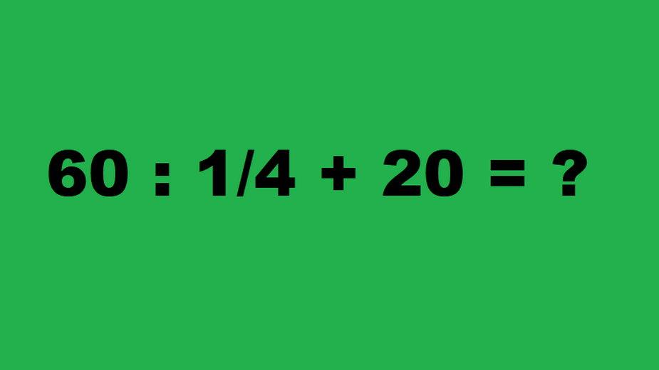 Pozornie prosta zagadka matematyczna