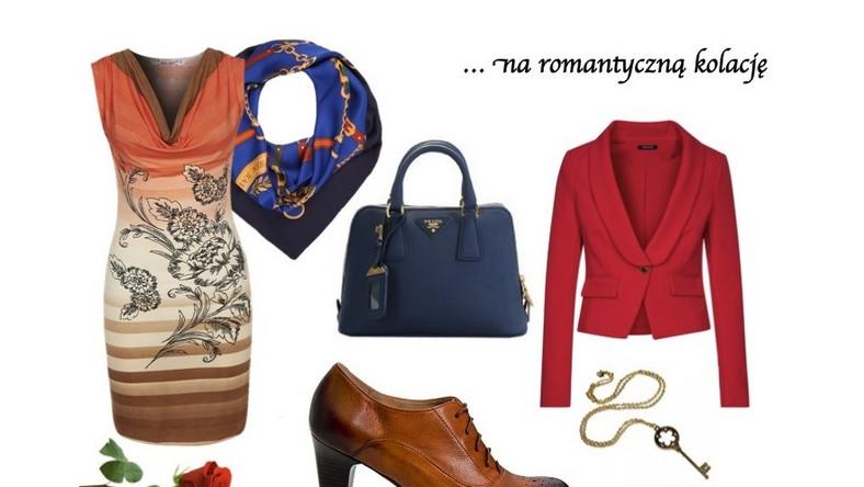 Sukienka – Smash www.zalando.pl, marynarka – Morgan, torebka – Prada, buty – Nessi www.nessi.com.pl,