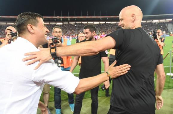 Srdačan pozdrav trenera, Milojevića i Solbakena