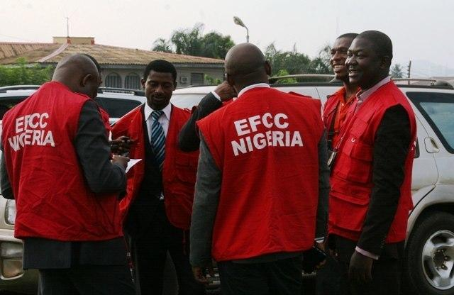 Men of the EFCC on duty