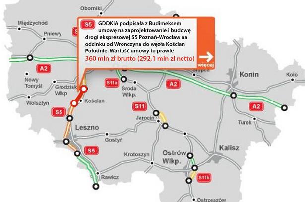 S5 - odcinek Worczyn - Kościan Południe