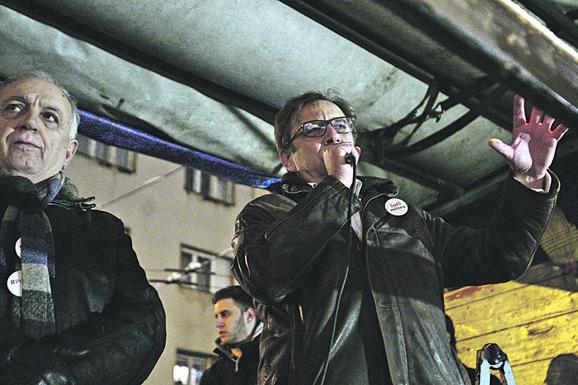 Jedan od govornika na protestu Tihomir Stanić