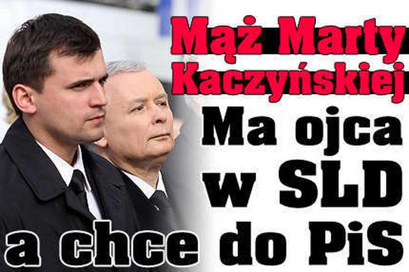 Mąż Marty Kaczyńskiej chce do PiS!