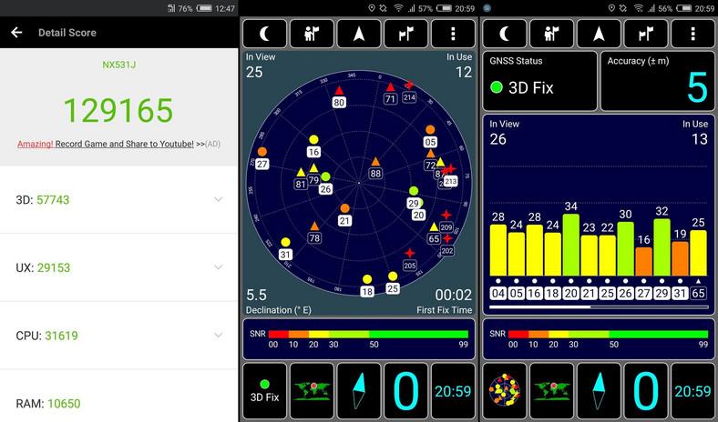 Nubia Z11 - AnTuTu Benchmark, GPS test