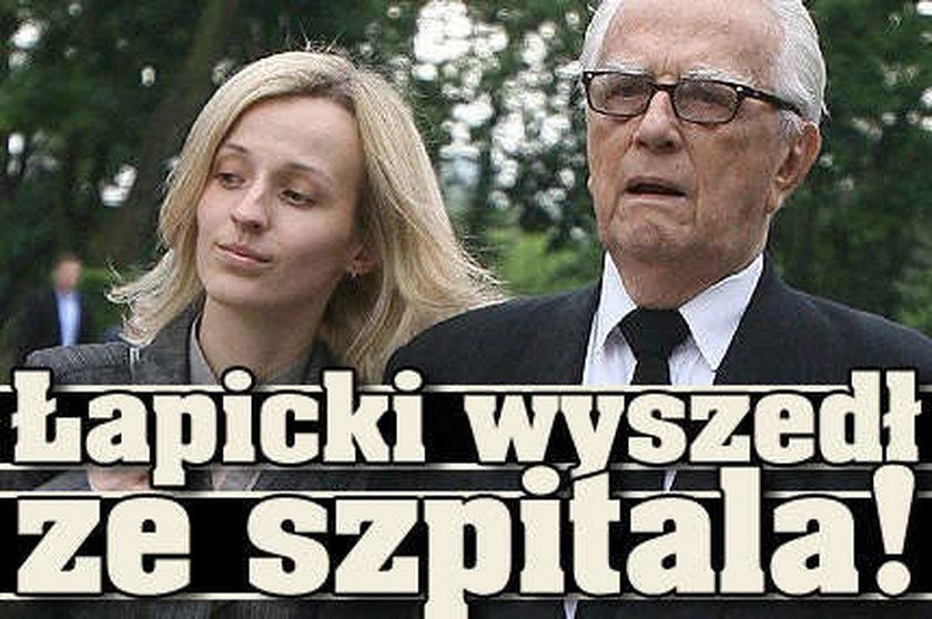 Łapicki wyszedł ze szpitala!