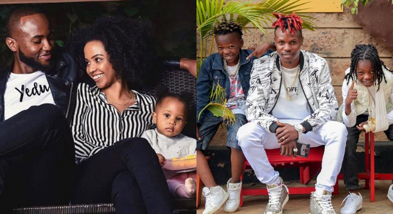Eko Dydda with his Kids. Nick Mutuma with Bridget Shighadi and their daughter Dua