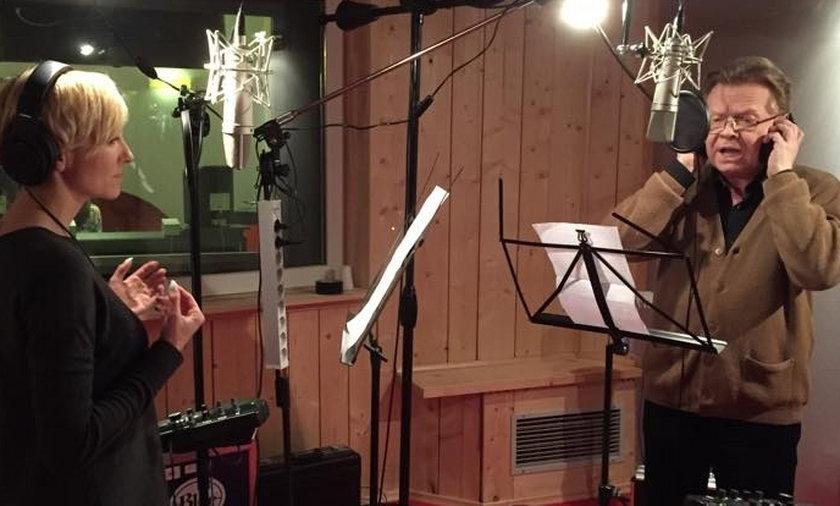 Ania Wyszkoni nagrywa piosenkę z Michałem Bajorem