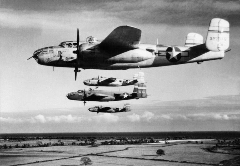 These B-25 light bombers from the US Army Air Force were among the 4,800 combat aircraft that flew from nearby Corsica to support the August 15 landings in southern France