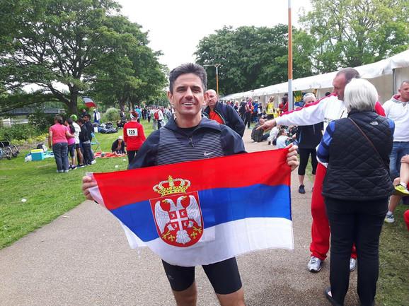 Saša Gacik na jednom od maratona