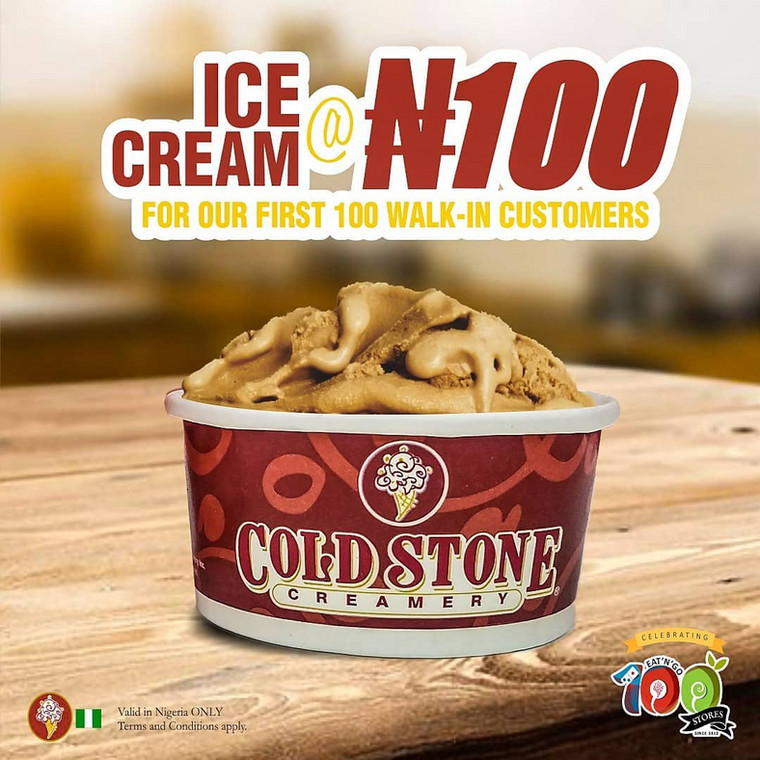Your N100 can get you a box of pizza, a cup of Cold Stone ice cream or a swirl of pinkberry frozen yoghurt!