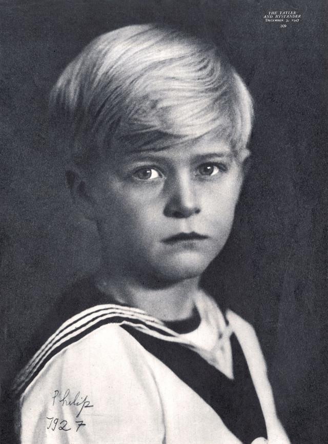 Princ Filip kao dečak 1927.