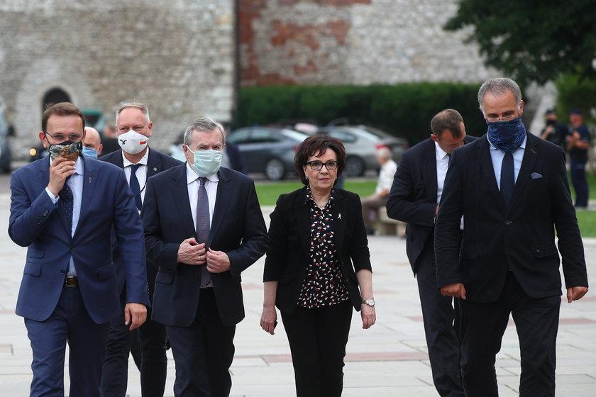 Marszałek Sejmu Elżbieta Witek, wiceprezes Rady Ministrów, minister kultury i dziedzictwa narodowego Piotr Gliński