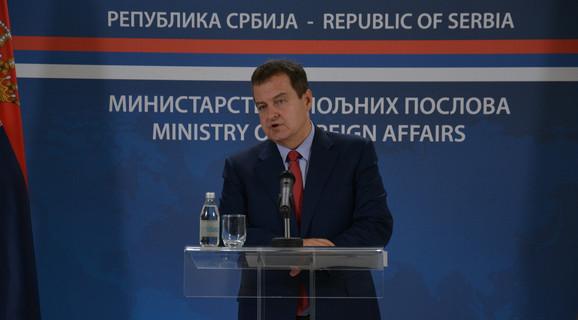 Ivica Dačić na današnjoj vanrednoj konferenciji za novinare